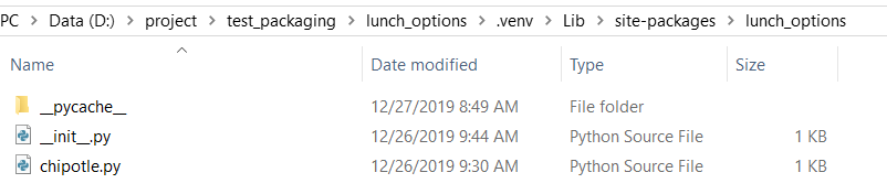 in site-packages, the fastfood folder is missing